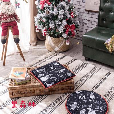 2018新款圣诞坐垫 40cm/一只不含包装 黑森林-方形