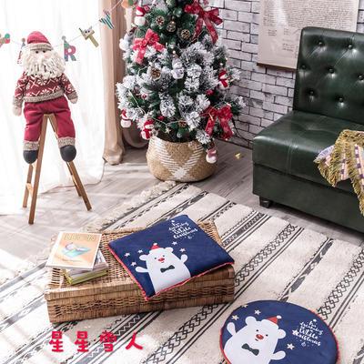 2018新款圣诞坐垫 40cm/一只不含包装 星星雪人-方形