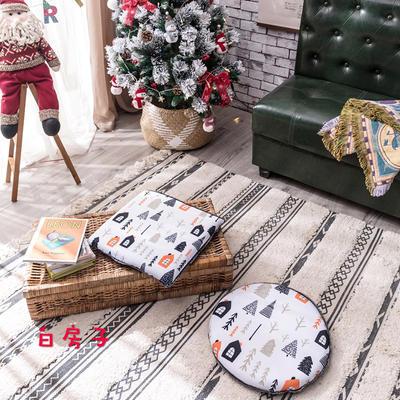 2018新款圣诞坐垫 40cm/一只不含包装 白房子-方形