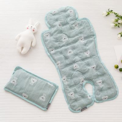 2019新款婴儿冰珠垫 奶绿小熊(枕头30*18)