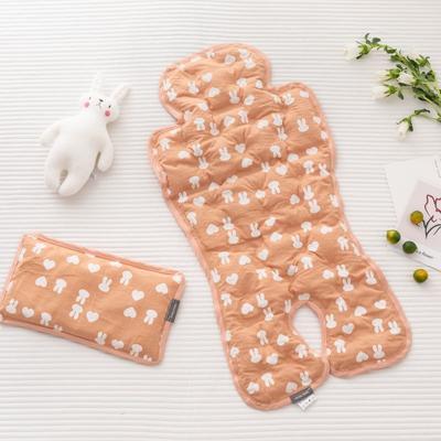 2019新款婴儿冰珠垫 爱心兔(枕头30*18)