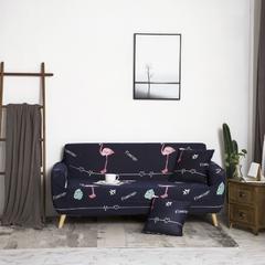 2018新款沙发套 抱枕套 黑色火烈鸟
