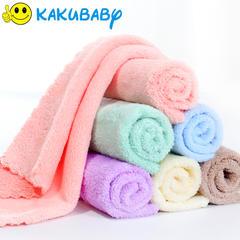5条装方巾小毛巾婴儿宝宝擦手洗脸巾柔软吸水不掉毛
