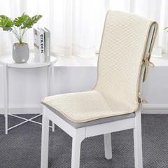 2018新款连体椅垫-棉麻小包边款 45x120cm 星星点点黄