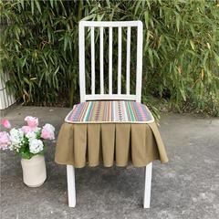 2018新款乡村田园风椅垫(单层)餐椅垫靠背坐垫一体 43cm座深*45cm座宽 绿野仙踪