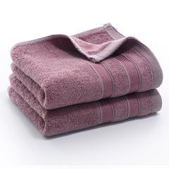 2018新款纯竹纤维条毛巾  34*74 紫