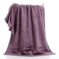 2018新款纯竹纤维条浴巾  70*140 紫