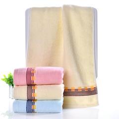 2018新款纯棉毛巾  33*73 米黄