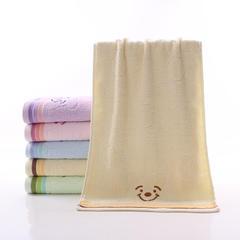 2018新款小熊毛巾  33*74 米黄