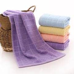 2018新款超市促销小格毛巾  32*72 紫色