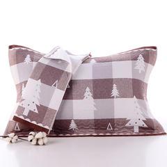2018新款加棉枕巾 咖色 52x78cm/条