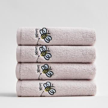2018新款纯色绣花中巾 30*55cm 灰色蜜蜂