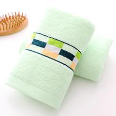 32股彩格毛巾34*75cm 浅绿色