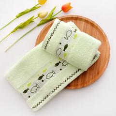 厂家直销纯棉32股毛巾 素色断档小鱼毛巾 浅绿色