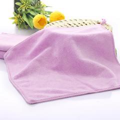 2018新款-超细纤维 干发巾素色方巾(30*30cm) 紫色