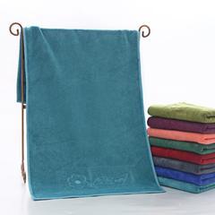 2018新款-超细纤维 干发巾压花毛巾(35*75cm) 珊瑚蓝