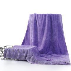 2018新款-高密蕾丝浴巾(70*140) 紫色