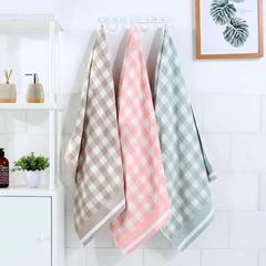 2018新款优雅小格毛巾浴巾(纯棉) 绿色小格毛巾34*75cm
