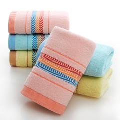 2019新款彩带毛巾 74*34cm 粉色