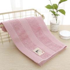 2018新款竹韵面巾  34*76cm 粉色
