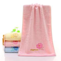 2018新款纯棉毛巾-月季花  34*74 粉色
