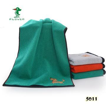 2018新款-小狗毛巾(33*74cm) 绿