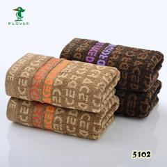 2018新款-字母毛巾(33*74cm) 咖