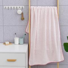 2019新款水纹70*140浴巾 粉色 70*140