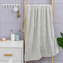 2019新款水纹70*140浴巾 绿色70*140