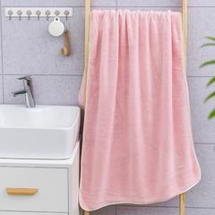 2019新款素色70*140浴巾 粉色