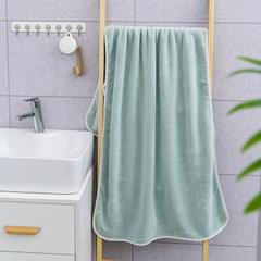 2019新款素色70*140浴巾 淡绿色