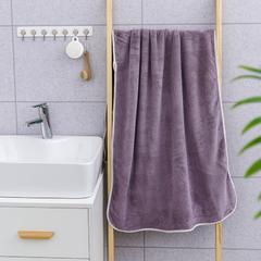 2019新款素色70*140浴巾 灰紫