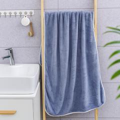 2019新款素色70*140浴巾 灰蓝