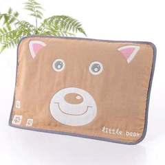 2018新款儿童枕巾 40*60cm 猫头咖/对