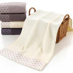 2018新款波点礼品套巾-毛巾 白色35*75cm
