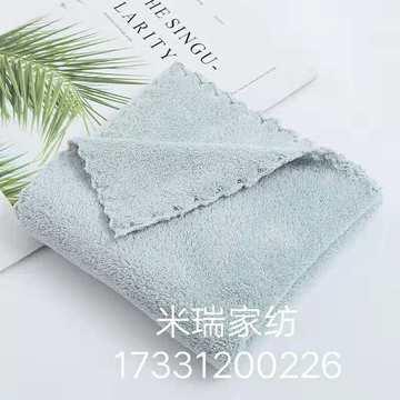 2018新款-高密珊瑚绒毛巾(35*75cm) 浅灰色