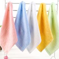 竹纤维方巾25*25柔软吸水宝宝口巾幼儿园儿童小毛巾竹纤维四方巾 粉色