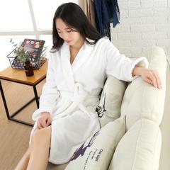 2018新款-高档长绒棉浴袍 XL120 白色