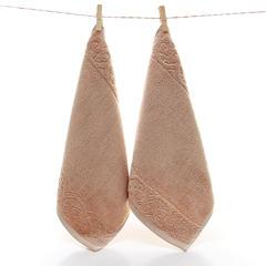 2018新款-长绒棉蒙娜丽莎套巾-方巾(34*35)毛巾(35*78)浴巾(71*150) 驼色方巾