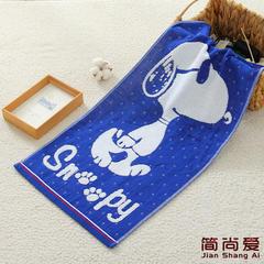 2018新款-史努比毛巾(35*75cm) 深蓝