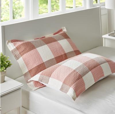 2018新款两层加棉纱布系列色织提花枕巾52*75--大格枕巾 大格枕巾