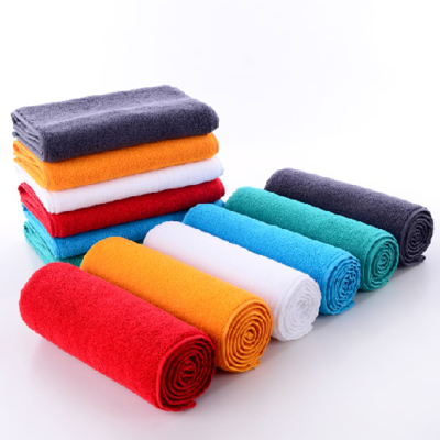 (带手拎包装)运动毛巾超细纤维吸汗瑜伽健身房徒手锻炼素色擦汗巾免费定制logo 粉