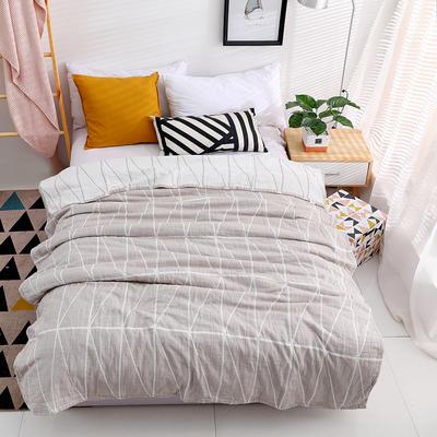 毛巾被新款純棉夏季雙人透氣蓋毯空調被兒童紗布夏涼被包郵午睡毯 200cmx230cm 灰色