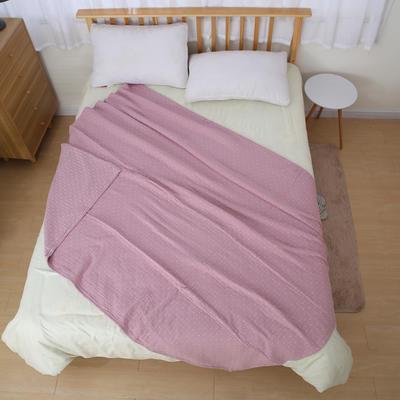 日式四层纯棉毛巾被单人双人夏天纱布毛巾毯纯棉盖毯学生盖被柔软 150cmX200cm 紫色
