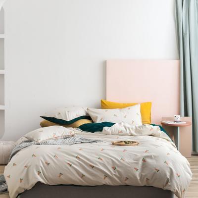 2019新款-棉加绒四件套 床单款1.5m(5英尺)床 胡萝卜