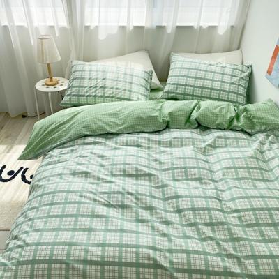 2020春夏新款-高密度40全棉四件套 床单款四件套1.5m(5英尺)床 憧憬
