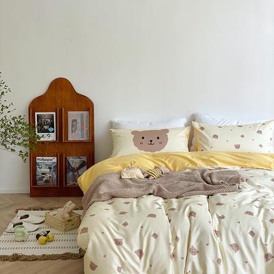 2020新款-ITS home 卡通60支四件套 1.5m床单款四件套 奶油小熊