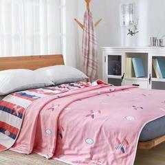 纯棉纱布毛巾被不含荧光厂家批发10层·可爱卡通经典欧花经典花型