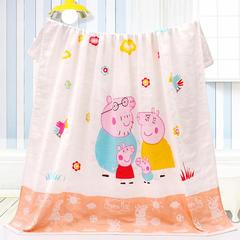 2018新款-小猪佩琪童被 90x90cm 小猪佩琪橘色