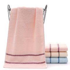 厂家直销加厚纯棉浴巾全棉吸水三件套巾酒店礼品批发劳保定制logo 粉色毛巾(34*74cm)